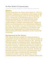 De Fleur Model of Communication.docx