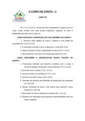 O CORPO DE CRISTO liçao 15.doc