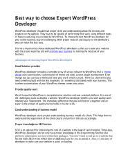 Best way to choose Expert WordPress Developer.pdf
