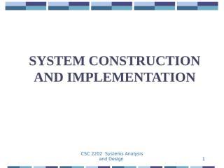 09_System_Construction_implementation.ppt