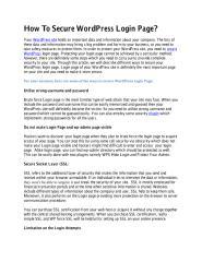 How To Secure WordPress Login Page.pdf