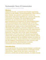 Psychoanalytic Theory Of Communication.docx