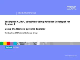 RDZ Workbench - Using Remote Systems Explorer.ppt
