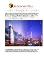 Dubai on fishing trip and Musandam tour from Arabian Desert tours.pdf
