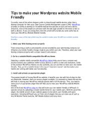 Tips to make your Wordpress website Mobile Friendly.pdf