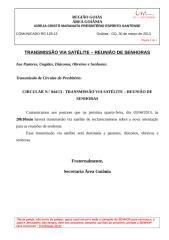 COMUNICADO RG 128-13 - TRANSMISSÃO VIA SATÉLITE – REUNIÃO DE SENHORAS.doc