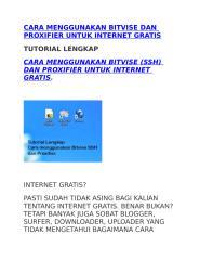 Cara menggunakan Bitvise dan Proxifier untuk Internet gratis.docx
