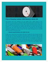 Pros of buying custom USB Memory sticks UK.doc